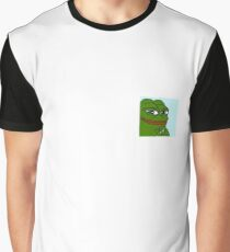 Pepe on a nipple Graphic T-Shirt