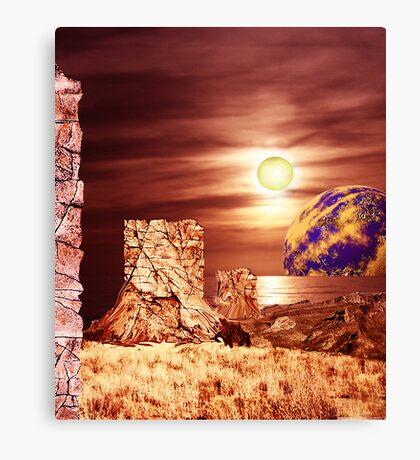 Rockface Pillars of Librach Nova. Canvas Print