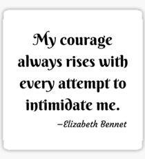 Pride and Prejudice Elizabeth Bennet Jane Austen Quote Sticker