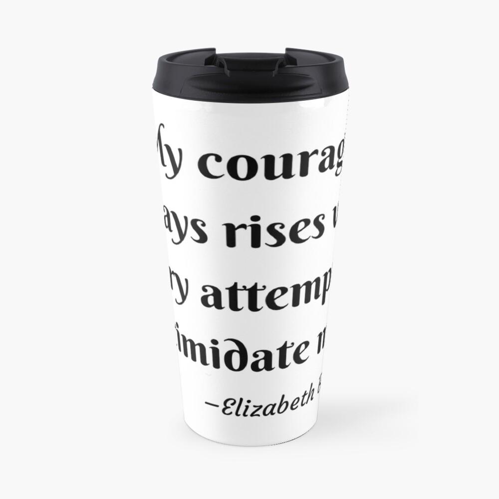 Pride and Prejudice Elizabeth Bennet Jane Austen Quote Travel Mug