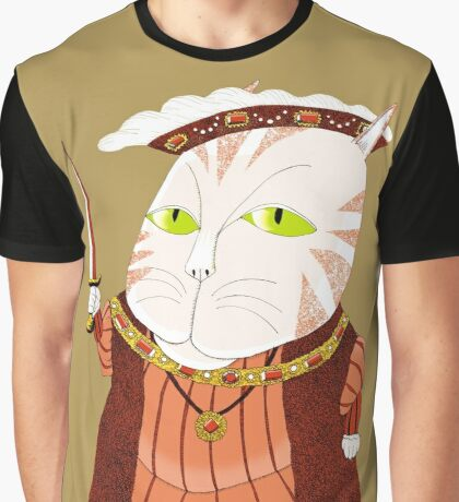 King Cat Henry the Eighth Graphic T-Shirt