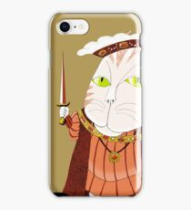 King Cat Henry the Eighth iPhone Case/Skin