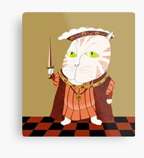 King Cat Henry the Eighth Metal Print
