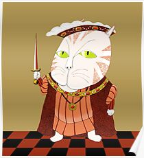 King Cat Henry the Eighth Poster