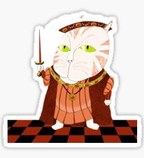 King Cat Henry the Eighth Sticker