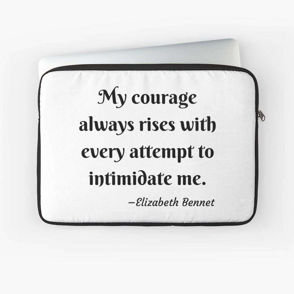 Pride and Prejudice Elizabeth Bennet Jane Austen Quote Laptop Sleeve