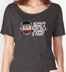 Always bring a gun to a puppet fight Ash Vs the Evil Dead Women's Relaxed Fit T-Shirt