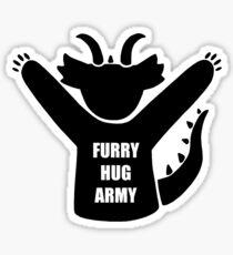 Furry Hug Army Dragon Sticker