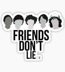 Stranger Things - Friends Don't Lie Sticker