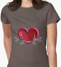 hearty heart heart Womens Fitted T-Shirt