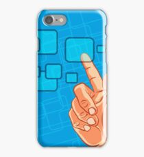Hand pushing a button iPhone Case/Skin