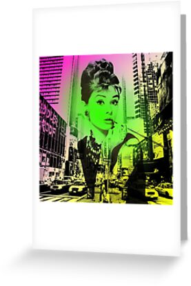 Audrey Hepburn Pop Art  by Oliver Marcetic