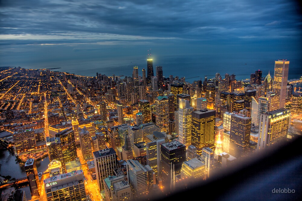 Looking Northeast from Sears Tower, part deux. by delobbo