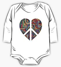 Abstract Peace Sign Heart One Piece - Long Sleeve