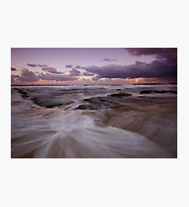 Bar Beach at Dusk 5 Photographic Print