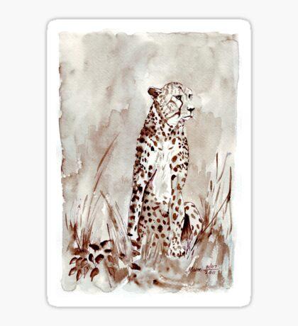 The Cheetah (Acinonyx jubatus)  Sticker