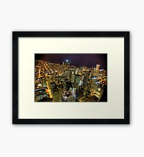 Looking Northeast from Sears Tower, part trois. Framed Print