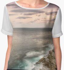 Cliffs Over Shelly Beach Chiffon Top