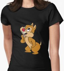 chip and dale #3 Womens Fitted T-Shirt