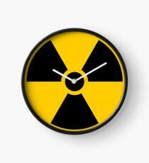 Reloj Señal de advertencia de radiación - Trébol
