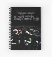 BTS - Beautiful Moment In Life Spiral Notebook
