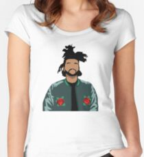 Weeknd Roses Women's Fitted Scoop T-Shirt
