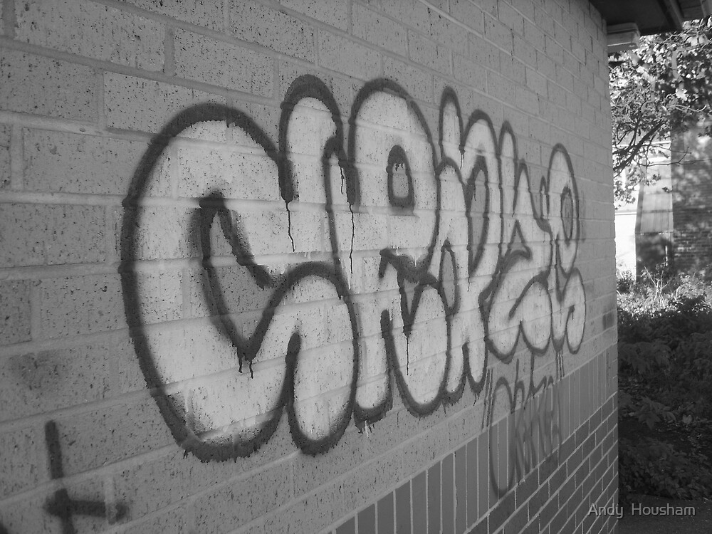 Grafitti on wall by Andy  Housham