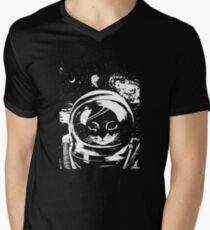 Space Kitten Mens V-Neck T-Shirt