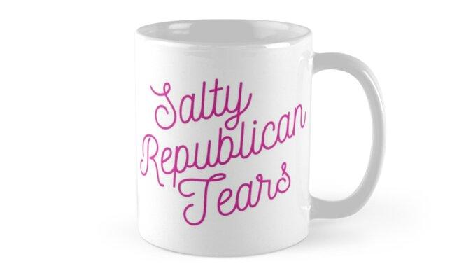 Mugocracy : Salty Republican Tears (Pink) by merimeaux