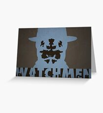 Watchmen - Rorscach Greeting Card