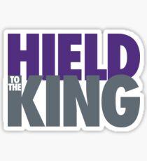 Hield To The King - (Purple/White/Slate) Sticker