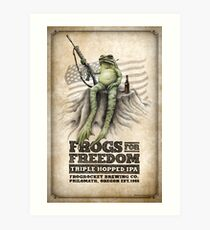 Frogs for Freedom Triple Hopped IPA: poster Art Print