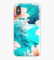Hibiscus flowers at the beach iPhone XS Case