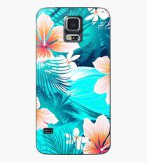 Hibiscusblumen am Strand Hülle & Klebefolie für Samsung Galaxy