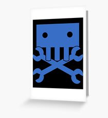 Robot Crossbones-1 Greeting Card