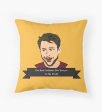Master of Bird Law Throw Pillow