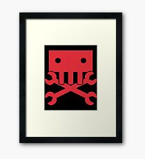 Robot Crossbones-2 Framed Print