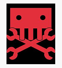 Robot Crossbones-2 Photographic Print