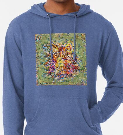 Ninja Cat. Deep Neural Networks #Art Lightweight Hoodie