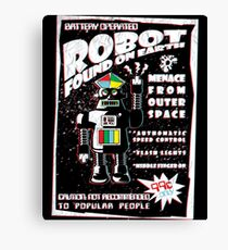Robot Found On Earth Canvas Print