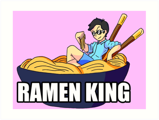 Ramen King Art Prints By Captaintaco2345 Redbubble