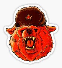 Illustration of a soviet bear . Sticker