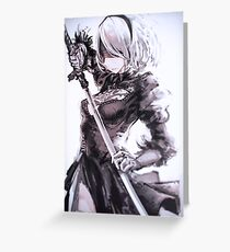 Nier Automata 2B Greeting Card