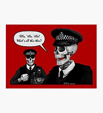 Skeleton Police (Red) Photographic Print