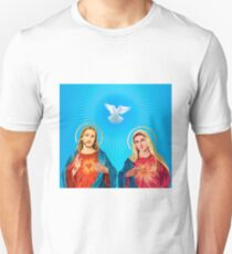Jesus Christ and the Virgin Mary Unisex T-Shirt