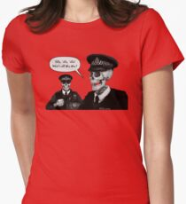 Skeleton Police (Red) Women's Fitted T-Shirt