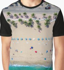 Beach Bird's Eye View Graphic T-Shirt