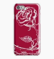 Rose in a frame of leaves iPhone Case/Skin
