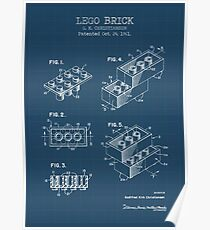 Lego Brick Blueprint Poster