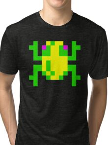 Frogger  Classic Arcade Game 80s Tri-blend T-Shirt